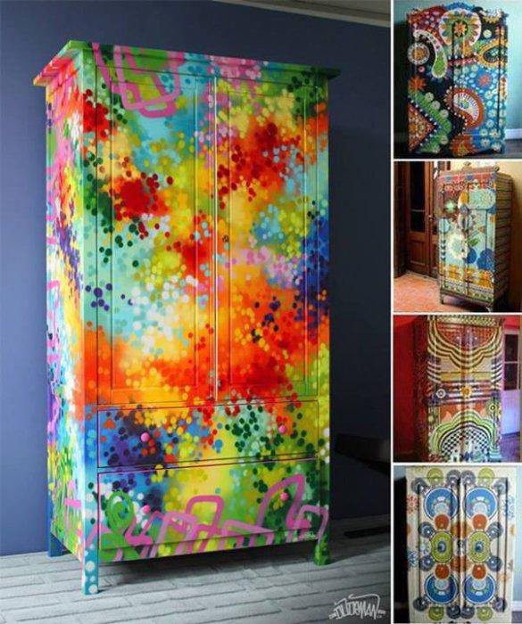 Декорировать шкаф купе своими руками фото