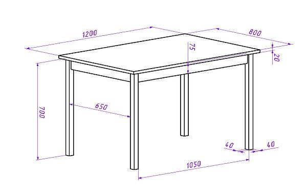Обеденный стол своими руками схема 874