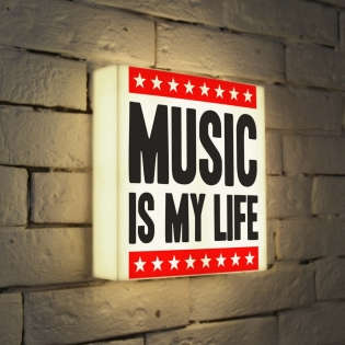 Лайтбокс -quot-Music is my life-quot- 25x25-072