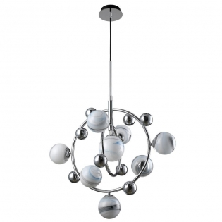 Подвесная люстра Crystal Lux Salvadore SP8V Chrome